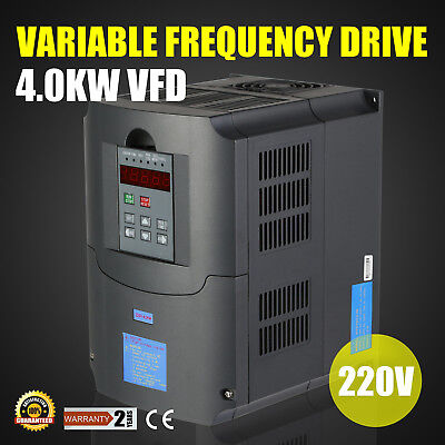 4KW 220V    VARIABLE FREQUENCY DRIVE INVERTER VFD NEW 5HP TOP