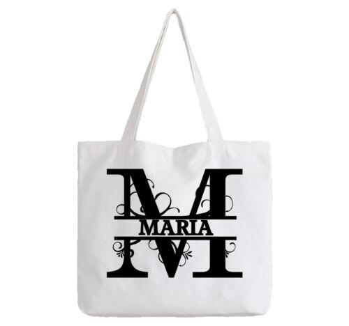 Maria Ladies Personalised White Tote Bag Shopping Change Name Gift Birthday Girl