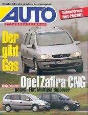 Opel Zafira CNG Sonderdruck Auto Strassenverk 26/01 GA