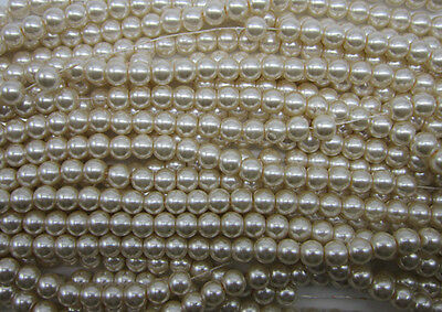 wholesale 4mm,6mm,8mm,10mm, Round Glass Pearl Spacer loose Beads 14 Colors