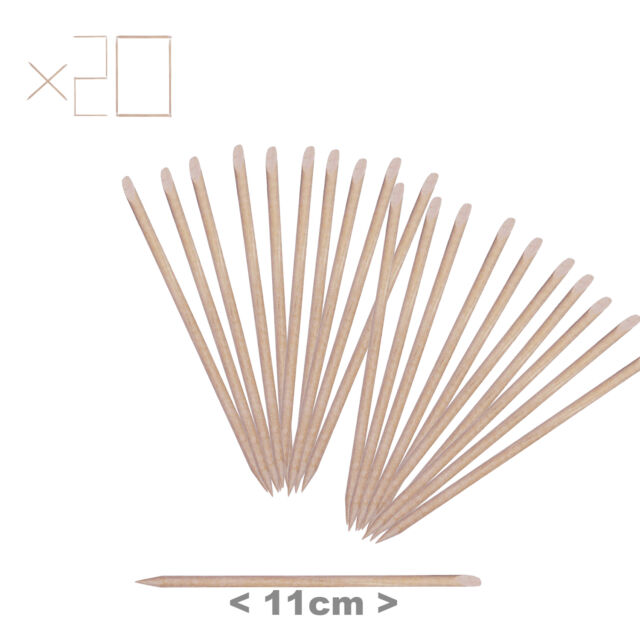 20 X 11.5cm Wooden Orange Cuticle Sticks Nail Art Manicure Pedicure Tool Health & Beauty