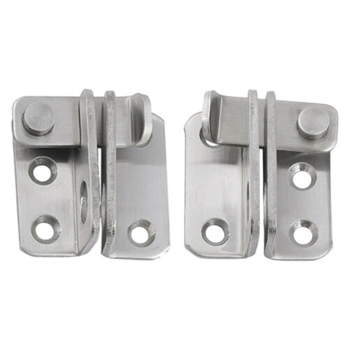 2x Edelstahl Hasp Latch Lock Schiebetür für Window Gate Cabinet