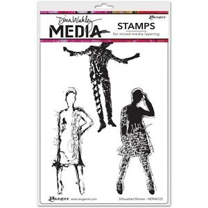 Dina-Wakley-Media-Cling-Stamps-6-X9-Silhouetted-Women