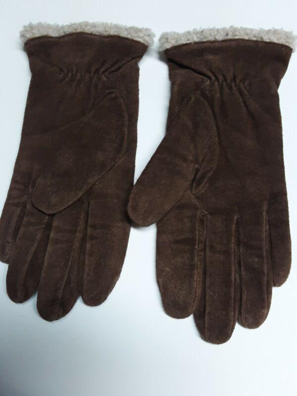 Dedicated Suede Ladies Brown Gloves