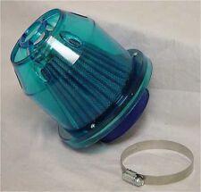 "UNIVERSAL 3"" 76MM TRANSLUCENT CLEAR BLUE HEAT SHIELD PERFORMANCE AIR FILTER"