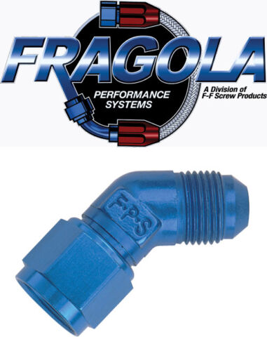 Fragola 498002 4 AN Female to Male Flare 45 Degree Adapter Fitting IMCA USRA