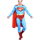 Costume Man Of Steel Adult Classic Superman Halloween Superhero Outfit XS-3XL