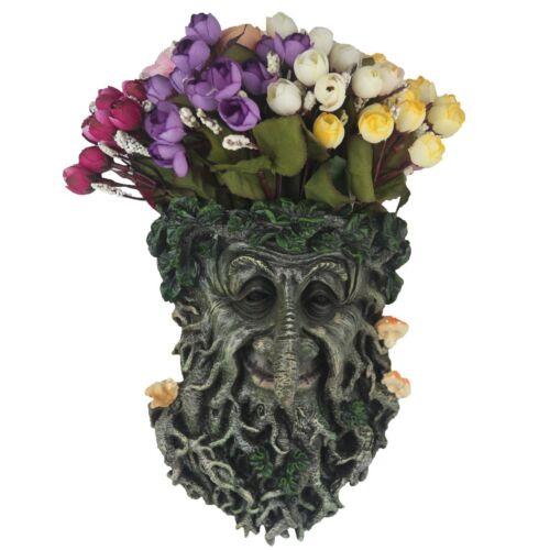 Tree Face Flower Pot Resin Garden Planters Use As Home Hall Balcony Office Decor