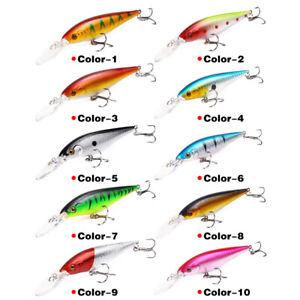 Minnow Fishing Lure 11cm 10g Hard Artificial Bait 6 # Hook Wobbler Crankbait