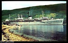 USS Holland  AS-32  postcard US Navy  warship Submarine Tender