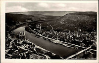 TRABEN-TRARBACH Blick Totalansicht Mosel Brücke AK alte Postkarte ~1950/60