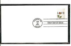 US-SC-3496-Love-Letters-FDC-Uncacheted