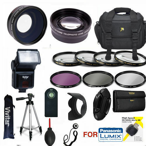 PANASONIC LUMIX FZ-1000 COMPLETE PRO 62MM HD KIT TRIPOD FLASH LENSES FILTERS