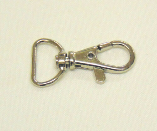 Plateado Metal Gancho Giratorio desencadenar pinzas Gancho Cordón Llavero 10mm-25mm Reino Unido