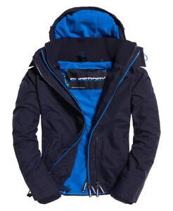 New-Mens-Superdry-Pop-Zip-Hooded-Arctic-SD-Windcheater-Jacket-Deep-Marine