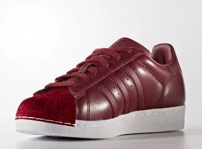 burgundy superstar adidas