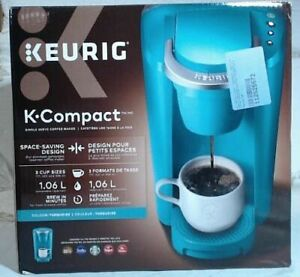 NEW-Keurig-K35-K-Compact-Single-Serve-K-Cup-Pod-Coffee-Maker-Turquoise-98-READ