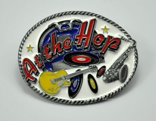 Rockabilly 50er Jahre Vinyl Gürtelschnalle Rock`n Roll 50s Music Buckle *570