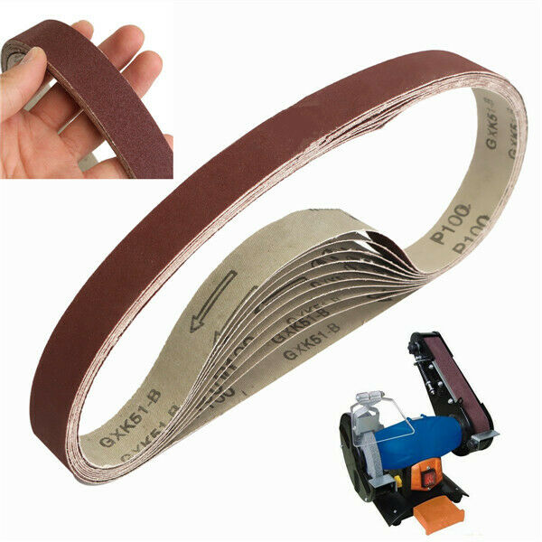 Belt Power Finger File Sander Abrasive Sanding Belts 400mm x 60mm 80 Grit 5 PK
