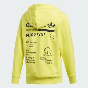 Men-039-s-adidas-Kaval-Hoodie-Yellow-Medium-NWT-DQ1062-New-Limited-90-Retail