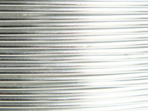 2 Mètres fil aluminium argent 1,5mm
