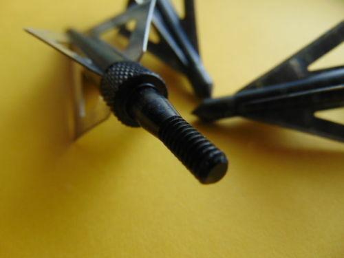 125 grain schraubbar 4 blades Messerstahl Bogen 3 Jagdspitzen für Armbrust
