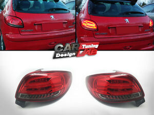 2) direct-fit red lens fully led tail lights rearllight for 1998
