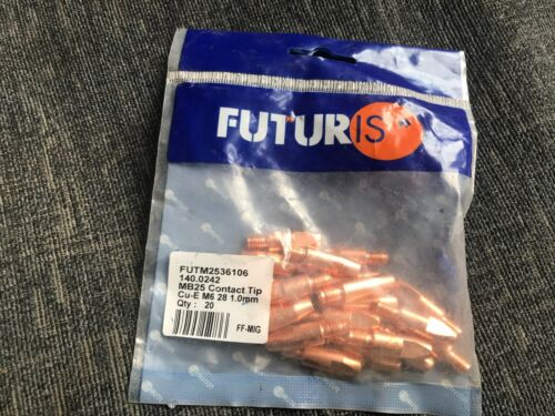 Pack Of 20 MB25-1.0mm New Futuris Free P/&P MIG Welding Contact Tips
