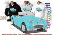 58-61 Austin Healey Sprite Hoodie Illustrated Classic Retro Muscle Sports Car
