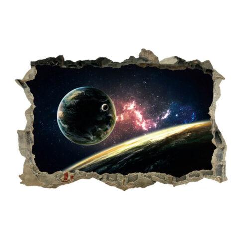 1x 3D Retro Outer Space Vinyl Art Home Decor Removable Galaxy Wall Sticker Dec