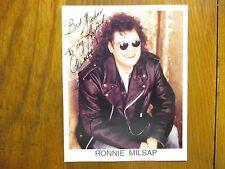 RONNIE  MILSAP(No Gettin' Over Me/Smokey Mountain Rain)Signed 8 X 10 Color Photo