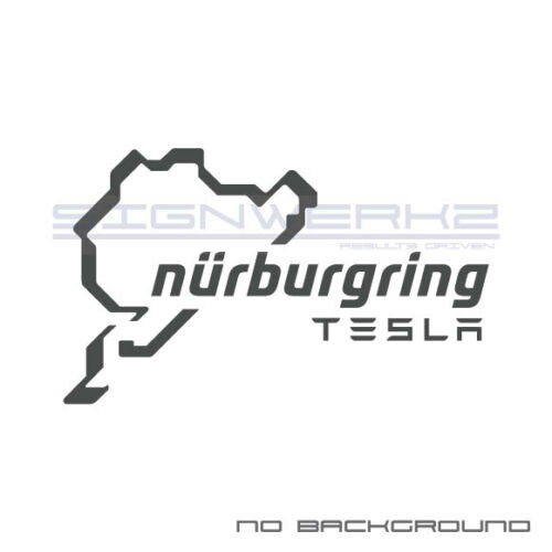 Tesla Nurburgring Decal Sticker logo P100D USA American Racing Track Pair