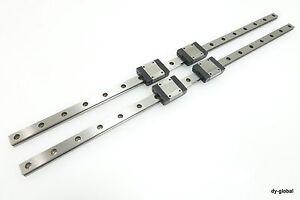 SBC-LINEAR-LM-Guide-Miniature-SBM12-440mm-2Rail-4Block-Ball-Wire-Type-THK-RSR12