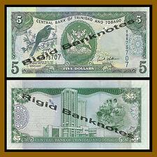 Trinidad and Tobago 5 Dollars, 2006 P-47 Prefix-BD Unc