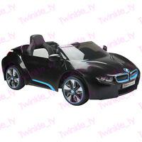 Bmw Licensed I8 12v Kids Ride On Car Children's Battery Remote Control Black