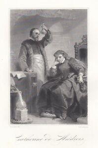 Sportif C2568 Catherine De Médicis - Xilografia D'epoca - 1860 Old Engraving MatéRiaux De Choix