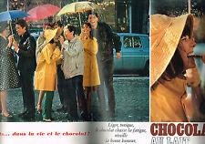 PUBLICITE ADVERTISING  1964   CHOCOLAT AU LAIT   ( double page)