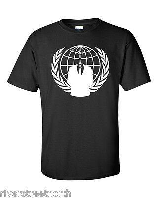 ANONYMOUS-BLACK T-SHIRT -NEW- ALL SIZES AVAILABLE-HACKER REVOLUTION SM-6XL