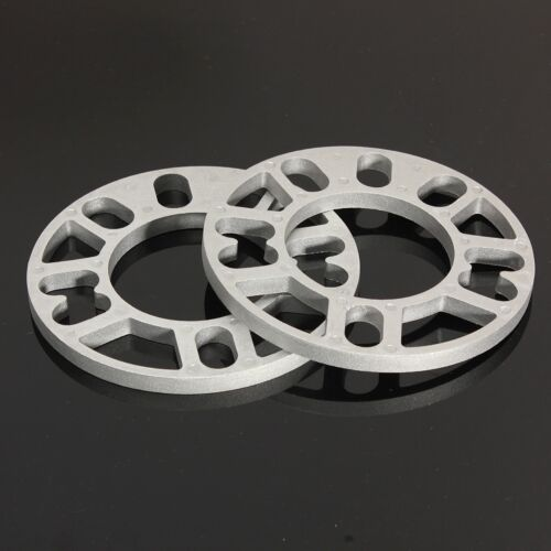 5 STUD FIT 2 X UNIVERSAL 10 MM ALLOY ALUMINUM WHEEL SPACERS SHIMS PLATE 4