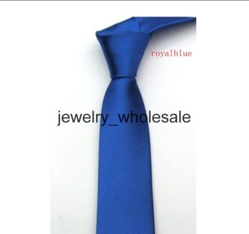 British Style Men/'s Plain Slim Narrow Flèche Cravate Skinny Tie Cravates U pick