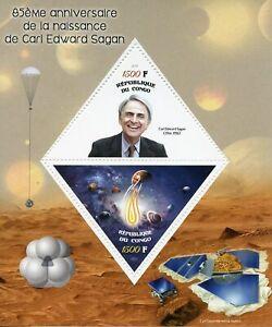 Space-Stamps-2019-MNH-Carl-Sagan-85th-Birth-Anniv-Planets-2v-M-S