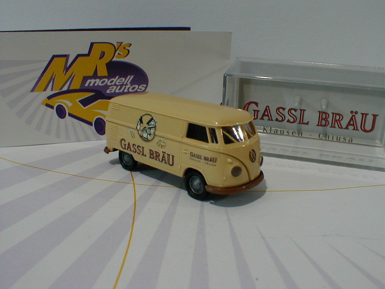 Brekina Werbemodell 2018-07 - Volkswagen Volkswagen Volkswagen VW T1b Kasten   Gassl Bräu   1 87 NEU 3ab3d6