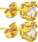 Pair 18K Gold Plated Ear Stud Earrings Piercing Jewelry Mens Womens Gift
