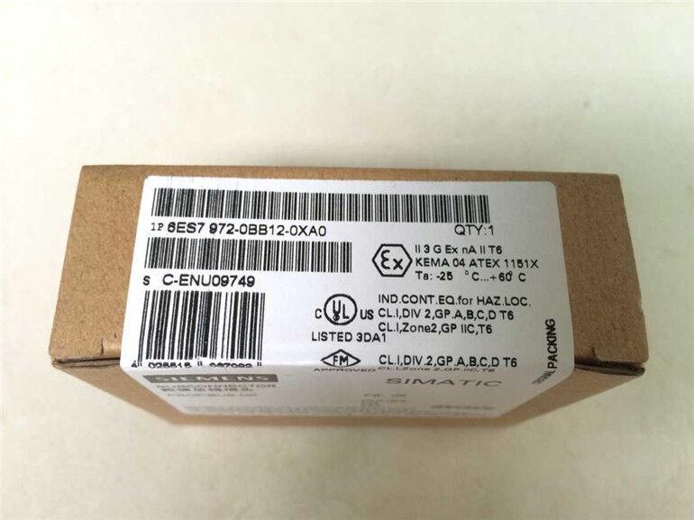 Siemens PLC 6ES7 972-0BB12-0XA0 ( 6ES79720BB120XA0 ) New In Box, Factory Seale