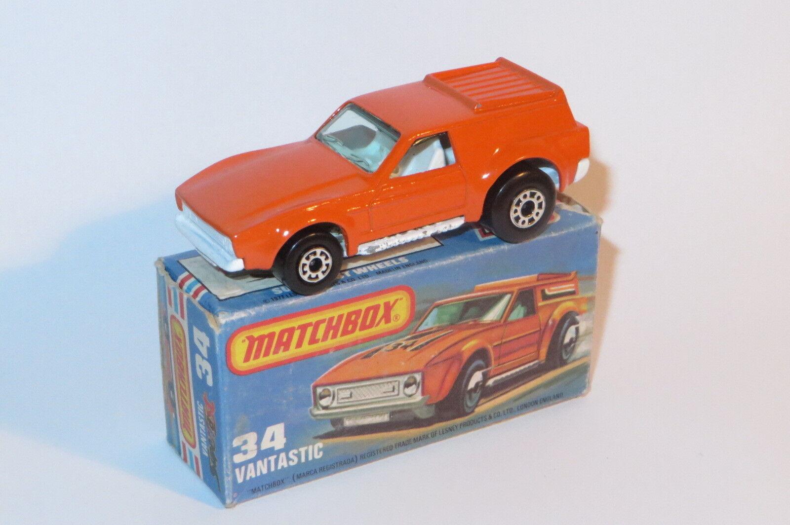 alta calidad general Vintage Matchbox Lesney Casi Nuevo En En En Caja NMIB Vantastic 34 Variante Rara Sin calcomanías  encuentra tu favorito aquí