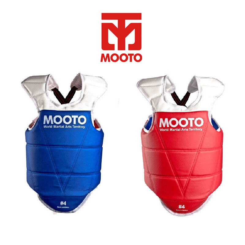 Reversible Mooto  TaeKwonDo Chest Guard bluee Red WTF KTA Approved Body Predector  official quality