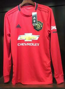 Manchester United Home Jersey 2019 20 Long Sleeves Adidas Men S Dx8954 Ebay
