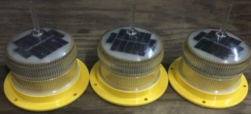 3 Sealite SL-15 Solar Powered Marine Light Aviation Light Marine buoy Light