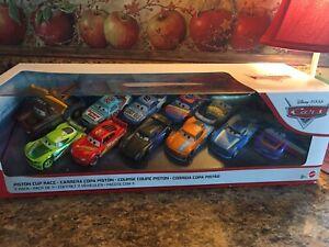 Disney-Pixars-Cars-11-Pack-Piston-Cup-Next-Gen-exclusivo-mismo-Race-dia-envio-Bolt