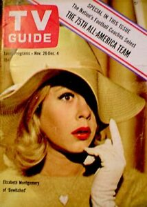 TV-Guide-1964-Bewitched-Elizabeth-Montgomery-Lauren-Bacall-VG-EX-COA-Rare